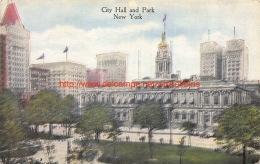 City Hall And Park New York - NY - New York