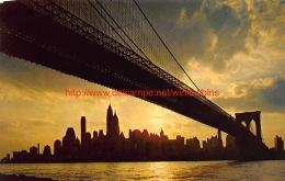 Brooklyn Bridge And Manhattan Island New York - NY - New York