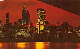Night View Of Lower Manhattan New York - NY - New York
