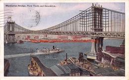 1921 Manhattan Bridge New York And Brooklyn - NY - New York