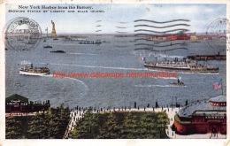 1921 New York Harbor From The Battery - NY - New York