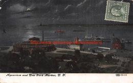 1909 Aquarium And New York Harbor New York - NY - New York