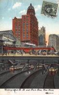 1909 Underground R.R. And Park Row New York - NY - New York