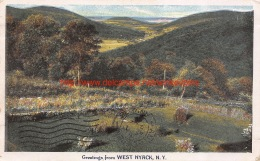 1919 Greetings From West Nyack New York - NY - New York