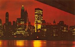 Night View Of Lower Manhattan New York City - NY - New York