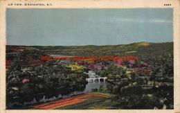 1941 Air View Binghamton New York - Nazi Stamp - NY - New York