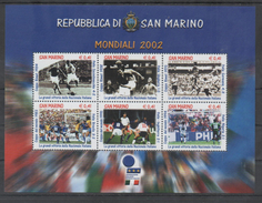 SAN MARINO, 2002, MNH, WORLD CUP 2002, THE GREAT VICTORIES OF THE ITALIAN NATIONAL TEAM, SHEETLET - 2002 – South Korea / Japan