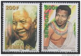 """Sénégal 2014 / 2016 Mort De Nelson Mandela Death """" Madiba """" 1918-2013 Pair / Paire MNH **"""