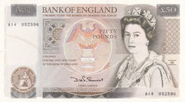 UK GREAT BRITAIN 50 POUNDS ND 1981-1988 P-381A EXF-AU - 1952-… : Elizabeth II