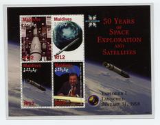 Maldives  2008,  Space, Satellite, Explorer 1(Nr. 4687/4690)