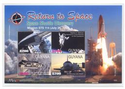 Guyana  2006,  Space, Satellite, Explorer 1(Nr. 7853/7856)