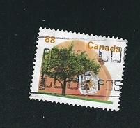 N° 1358 Abricotier Arbre   Timbre Canada (1994) Oblitéré