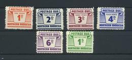 NORTHERN  RHODESIA    1963    Postage  Due   Set  Of  6    MNH - Northern Rhodesia (...-1963)