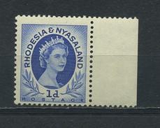 RHODESIA  And  NYASALAND  1954    1d  Ultramarine    MNH - Rhodesia & Nyasaland (1954-1963)