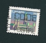 N° 1079 Le Parlement   TIMBRE Stamp Canada (1988) Oblitéré