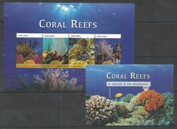 ST.VINCENT - MNH - Animals - Marine Life - Coral Reefs - Marine Life