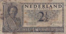 Netherlands 2 1/2 Gulden 1949 G P-73 - 2 1/2 Gulden