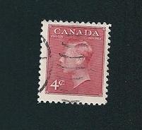 N° 239A Roi George VI TIMBRE Stamp Canada (1949) Oblitéré