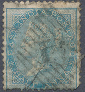 Stamp   India 1855-65 Queen Victoria 1/2a Used Lot#18 - India (...-1947)