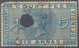 Stamp   India  Queen Victoria 6a Used Lot#21 - 1852 Sind Province