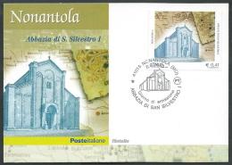 2003 ITALIA CARTOLINA POSTALE FDC ABBAZIA NONANTOLA - Y2 - 1946-.. République