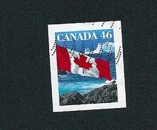 N° 1623 Drapeau Sur Océan Non Dentelé TIMBRE Stamp Canada (1998) Oblitéré