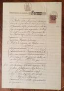 MARCA DA BOLLO UMBERTO LIRE QUATTRO SU DOCUMENTO COMPLETO FERMO 4/10/1902 R - Steuermarken