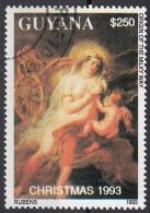 """2749E Guyana 1993 """"L'origine Della Via Lattea"""" Quadro Dipinto Da P.P. Rubens Barocco Paintings  Preoblit. - Nudes"""