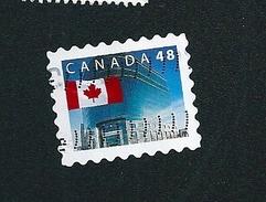 N° 1906 Drapeau Du Canada TIMBRE Stamp Canada (2002) Oblitéré