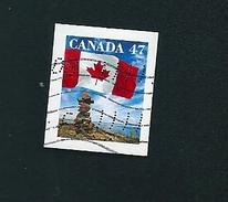 N° 1829 Drapeau Du Canada TIMBRE Stamp Canada (2000) Oblitéré