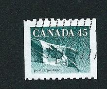 N° 1417 Drapeau Canadien  TIMBRE Stamp Canada (1995) Oblitéré