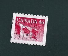 N° 1223 Drapeau Canadien Rouge (roulette) 42c  TIMBRE Stamp Canada (1991) Oblitéré