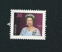 N° 1078 Reine Elizabeth II   TIMBRE Stamp Canada (1988) Oblitéré