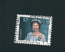 N° 1031  Reine Elizabeth II   TIMBRE Stamp Canada (1987) Oblitéré
