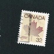 N° 828 Feuille D'érable  TIMBRE Stamp Canada (1983) Oblitéré