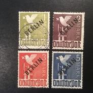 Deutschland Berlin West 1949 Schwarzaufdruck Satz Michel 17-20 FALSCH-STEMPEL (fausse Oblit., Forged Postmark)