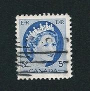 N° 271 Reine élisabeth II  TIMBRE Stamp Canada (1954) Oblitéré