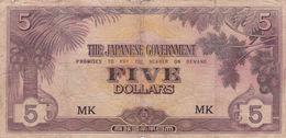 MALAYA JAPAN 5 DOLLARS ND 1942 P-M6c G - Bankbiljetten