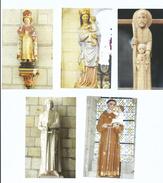 Lot De 5 Images Religieuses Contemporaines Sur Papier Souple Avec Prières Au Dos - Devotion Images