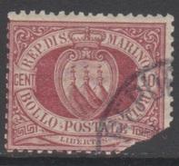 SAINT-MARIN 1895-99 1 TP Armoiries N° 28 Y&T Oblitéré Abimé - Saint-Marin