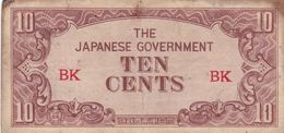 MALAYA JAPAN 10 CENTS ND 1942 P-M3a G - Andere