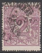SAINT-MARIN 1903 1 TP Chiffre N° 34 Y&T Oblitéré - Saint-Marin