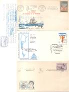 ANTARTIDE ANTARTIDA ANTARTICS 8 SOBRES Y TARJETAS ENVELOPES AND CARDS  ENVELOPPES DIFFERENTES BON ETAT DIFERENTES - Postzegels