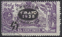 España U 0761 (o) Fiesta Trabajo. 1938 - 1931-Aujourd'hui: II. République - ....Juan Carlos I