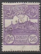 SAINT-MARIN 1925 1 TP Mont Titan N° 110 Y&T Oblitéré - Saint-Marin