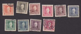 Austria, Scott #M50-M51, M54, M56-M58, M60-M61, M63-M65, Used, Emperor Karl I Military Stamps, Issued 1917 - Austria