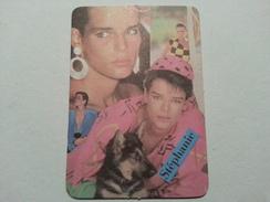 Portuguese Old Pocket Calendar, Music, Stephanie - 1991 - Calendriers