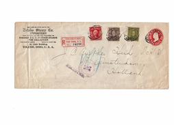 CIRC9- ETATS UNIS EP ENVELOPPE 2c  257x110mm NEW YORK / AMSTERDAM SEPTEMBRE 1908