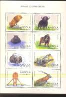 ANGOLA   1027  MINT NEVER HINGED MINI SHEET OF WILDLIFE & ANIMALS   ( - Briefmarken