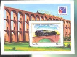 ANGOLA   1120  MINT NEVER HINGED SHEETS OF TRAINS   #  012-1   ( - Trains